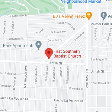 Image of map of location for First Southern Baptist Church
